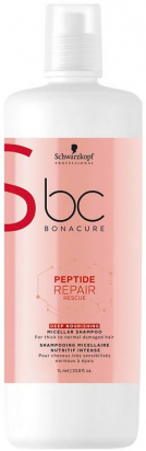 BC Bonacure Peptide Repair Rescue Deep Nourishing Micellar Shampoo MAXI