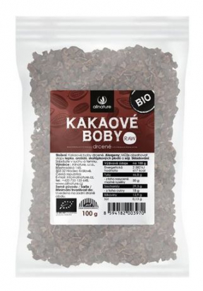 Kakaové boby drcené BIO/RAW 100g